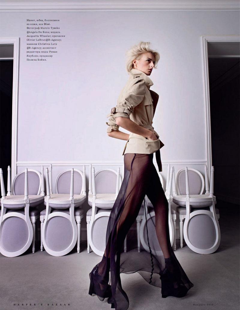 Harper's Bazaar Russia | Jacquetta Wheeler by Marcin Tyszka