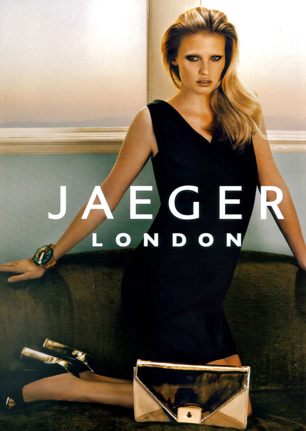 Jaeger London S/S 2010 Campaign Preview   Lara Stone