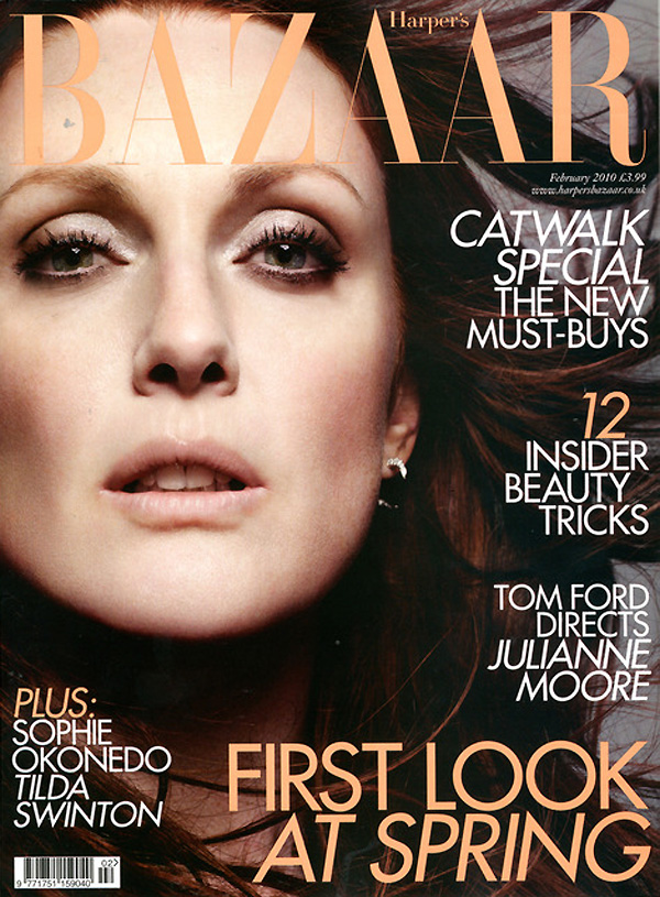 Harper's Bazaar UK February 2010 | Julianne Moore by Paola Kudacki