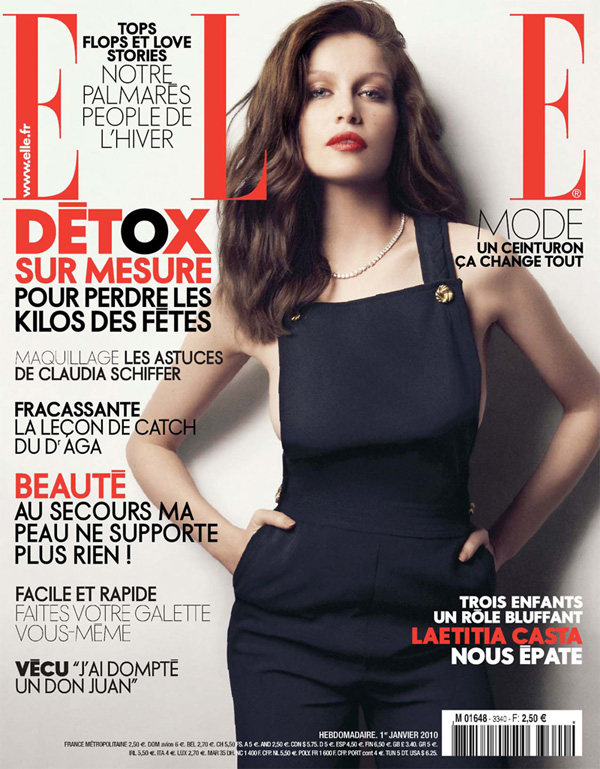 Elle France January 1 | Laetitia Casta by Dusan Relijn