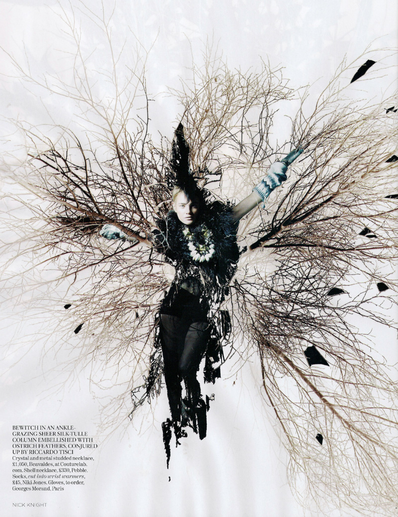Vogue UK February | Natalia Vodianova by Nick Knight