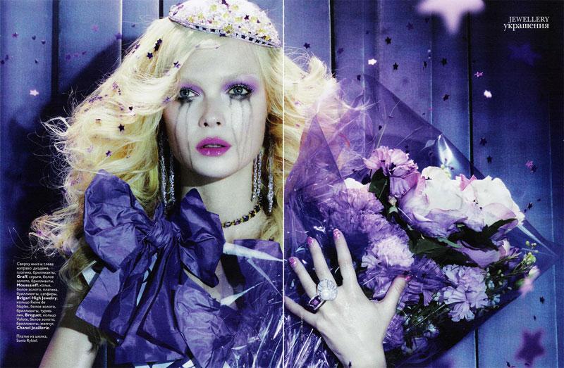 Vogue Russia Jewelry | Siri Tollerød by Miles Aldridge
