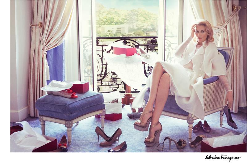 Salvatore Ferragamo Spring/Summer 2010 Campaign | Claudia Schiffer by Mario Testino