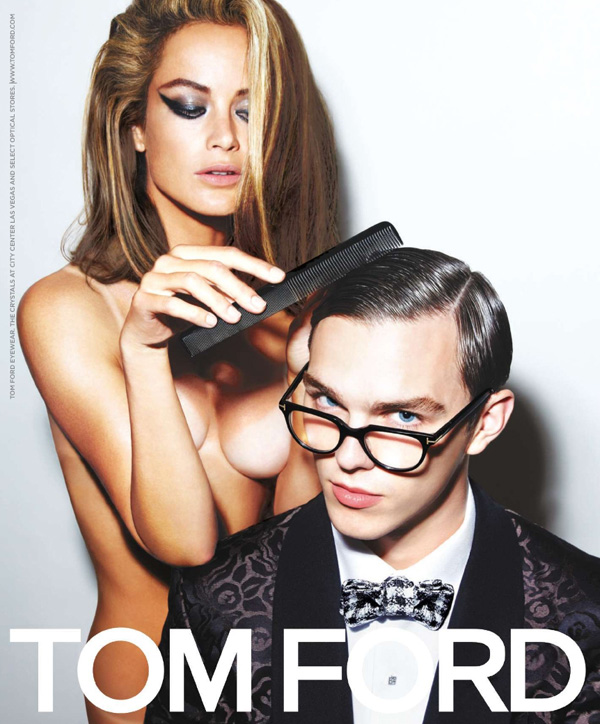Tom Ford Eyewear Spring 2010 Campaign Preview   Carolyn Murphy & Nicholas Hoult by Tom Ford