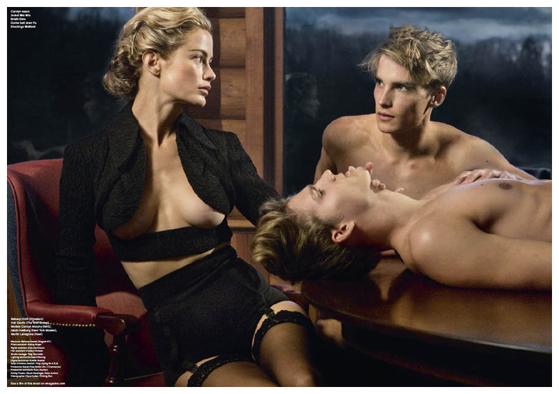 Carolyn Murphy by Sebastian Faena   V Magazine
