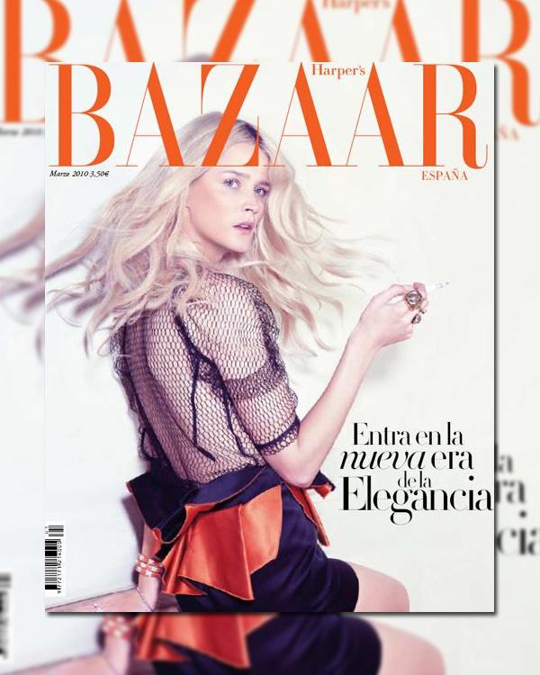 Harper's Bazaar Spain March '10 Cover   Carmen Kass