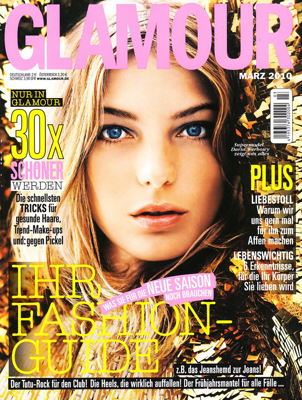 Glamour Germany March 2010 Cover | Daria Werbowy