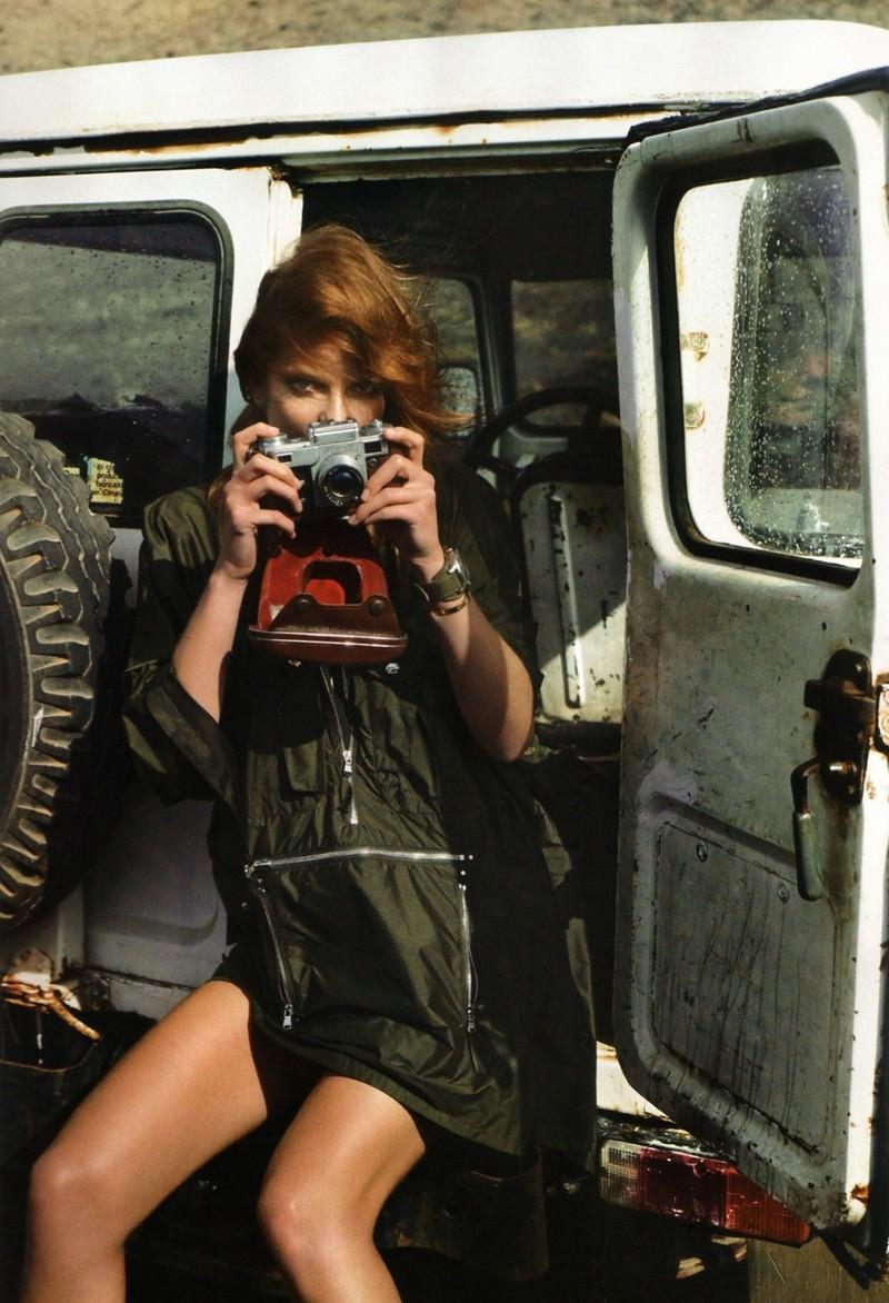Eniko Mihalik by Cédric Buchet | Vogue Paris March