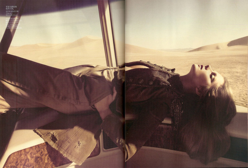 On the Road | Eniko Mihalik by Camilla Akrans