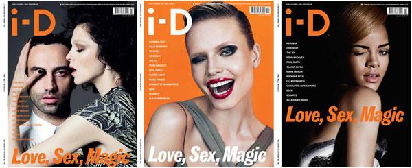 i-D Pre-Spring 2010 Covers   Mariacarla Boscono, Riccardo Tisci, Natasha Poly & Rihanna