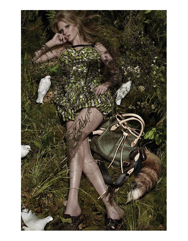 Louis Vuitton Spring 2010 Campaign | Lara Stone by Steven Meisel