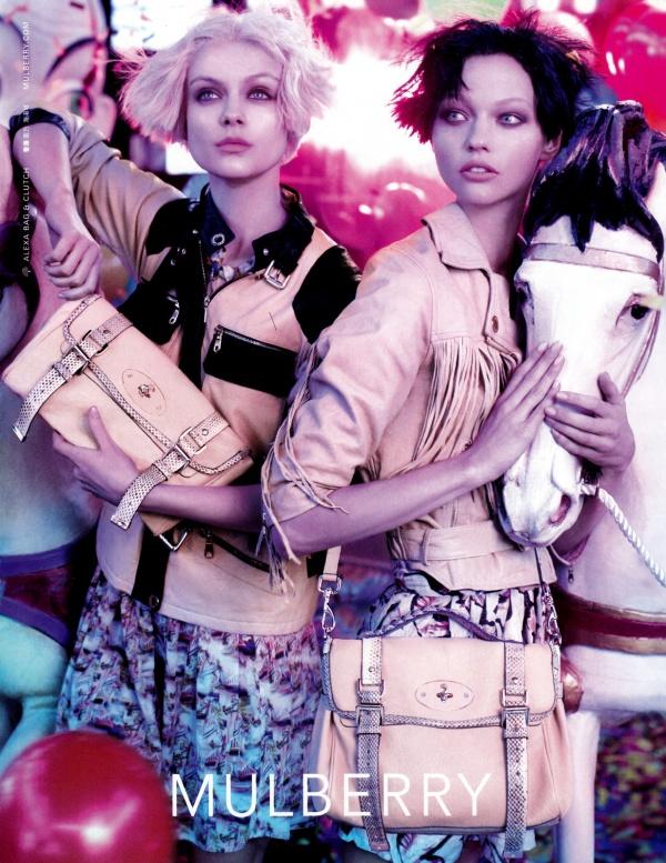 Mulberry Spring 2010 Campaign | Sasha Pivovarova & Viktoriya Sasonkina by Steven Meisel