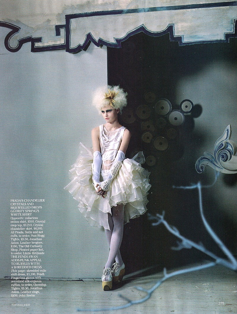 China White | Sasha Pivovarova by Tim Walker