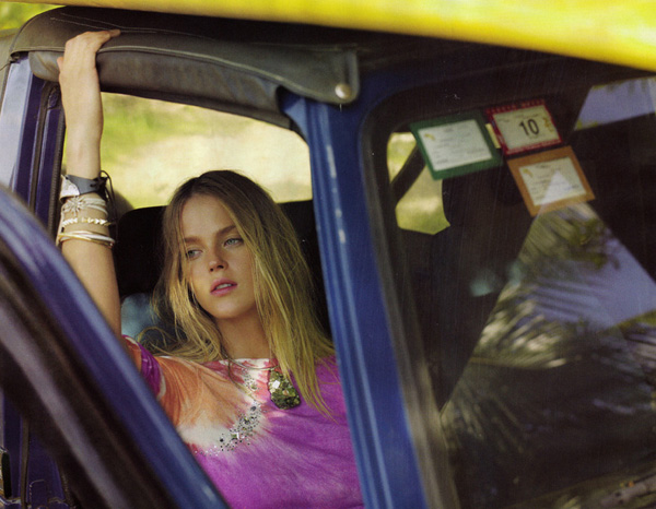 Elle US March '10 | Shannan Click by Laurie Bartley