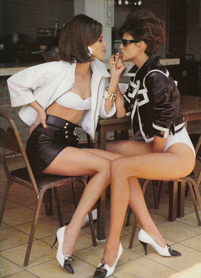 The Supermodel Experience | Christy Turlington & Linda Evangelista by Patrick Demarchelier