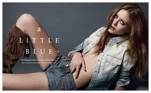 A Little Blue | Josefin by Viki Forshee for BlackBook
