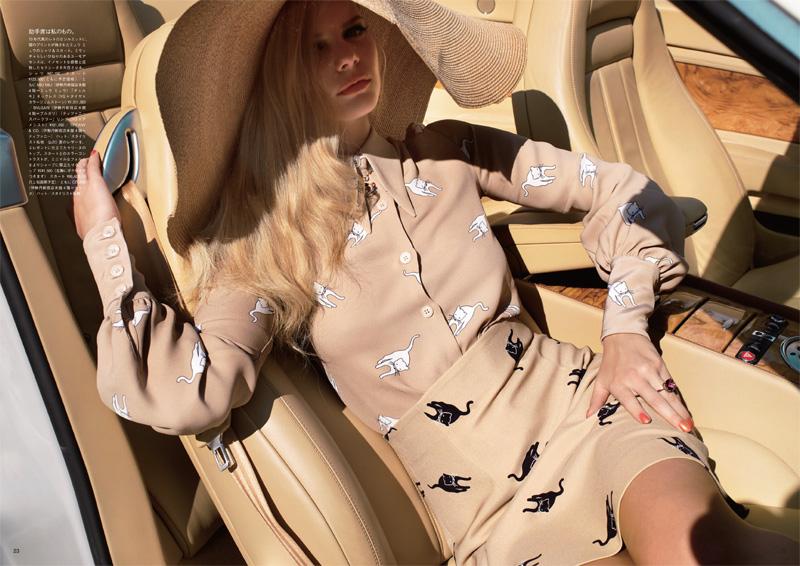 Marloes Horst by Blaise Reutersward | Vogue Nippon April 2010