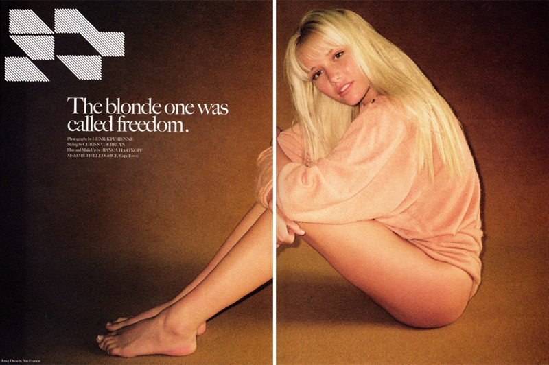 The Blonde One Was Called Freedom   Henrik Purienne for Mirage #2