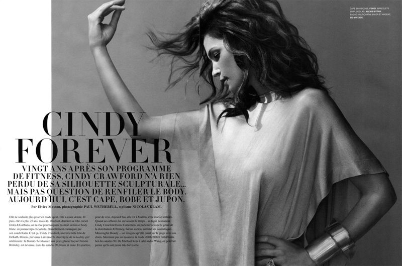Cindy Forever | Cindy Crawford by Paul Wetherell