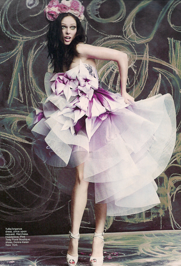 Coco Rocha by Chris Nicholls | Flare April 2010