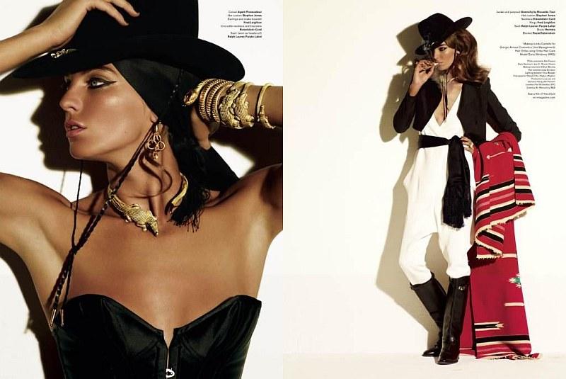 Daria Werbowy by Mario Testino | V Magazine #64