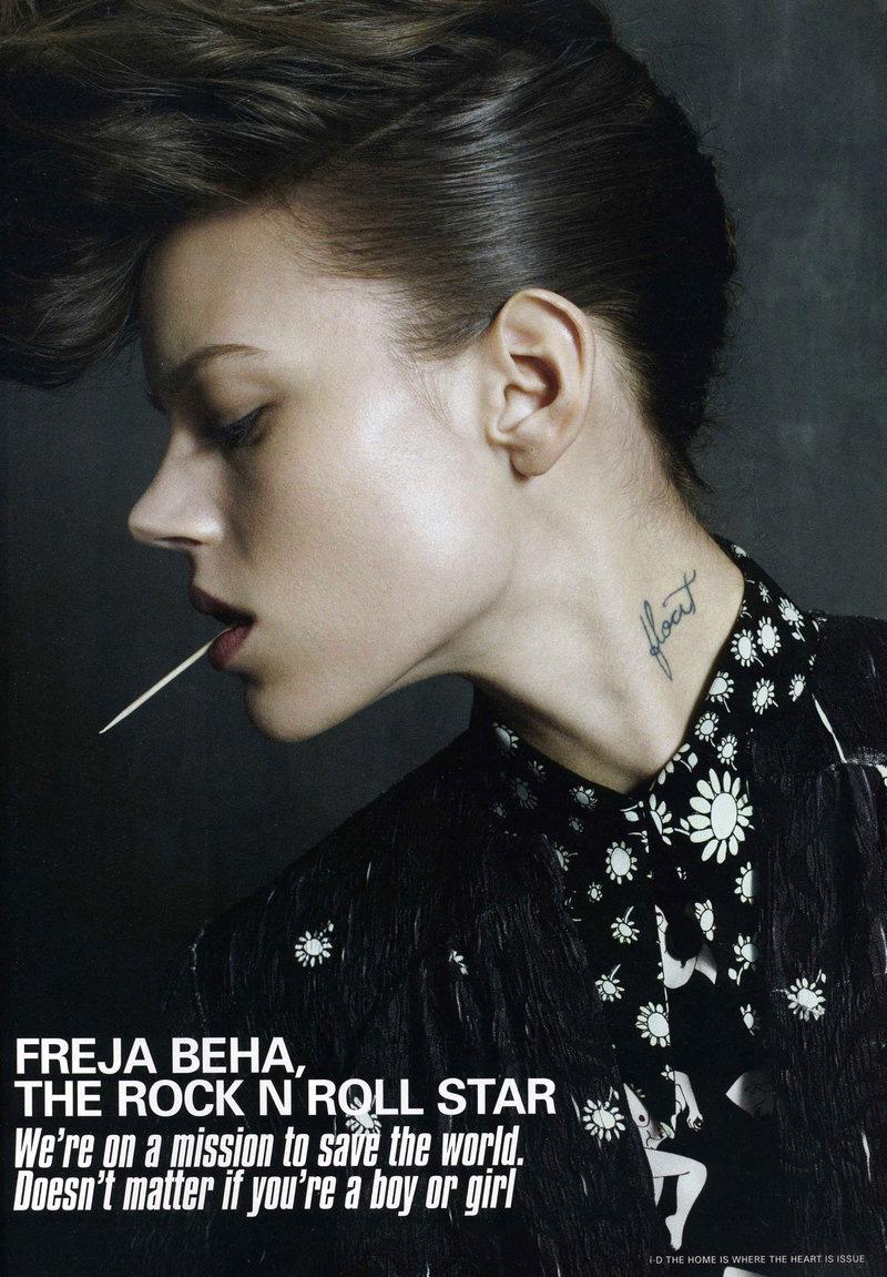 Freja Beha Erichsen by Emma Summerton   i-D Spring 2010