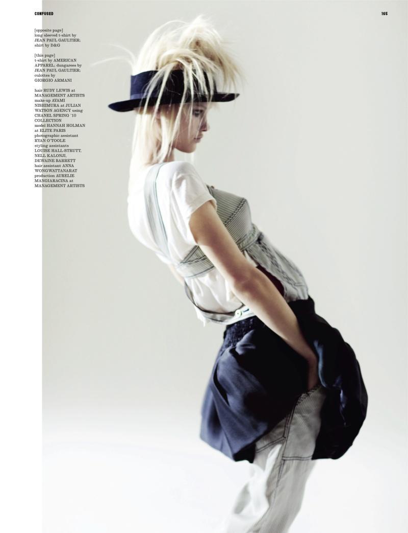 Hannah Holman by Serge Leblon | Dazed & Confused April 2010