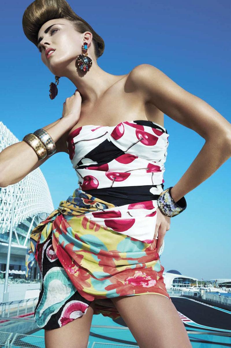 Harper's Bazaar Arabia March 2010 | Throwing Shapes by Susanne Spiel
