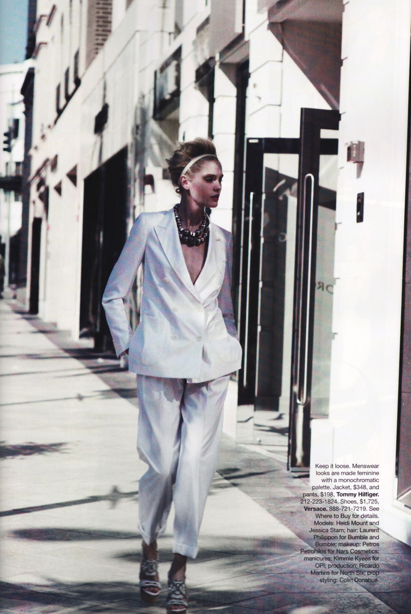 Jessica Stam & Heidi Mount by Peter Lindbergh | Harper's Bazaar US April 2010