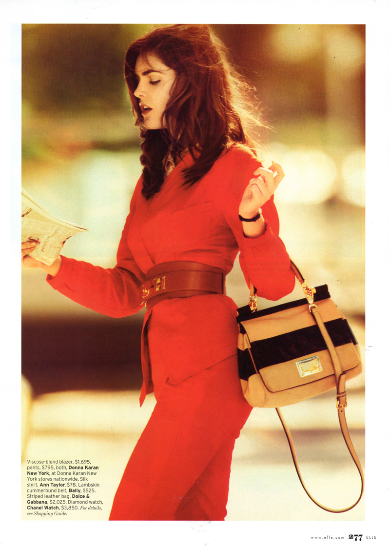 Hilary Rhoda by Michelangelo di Battista | Elle US April 2010
