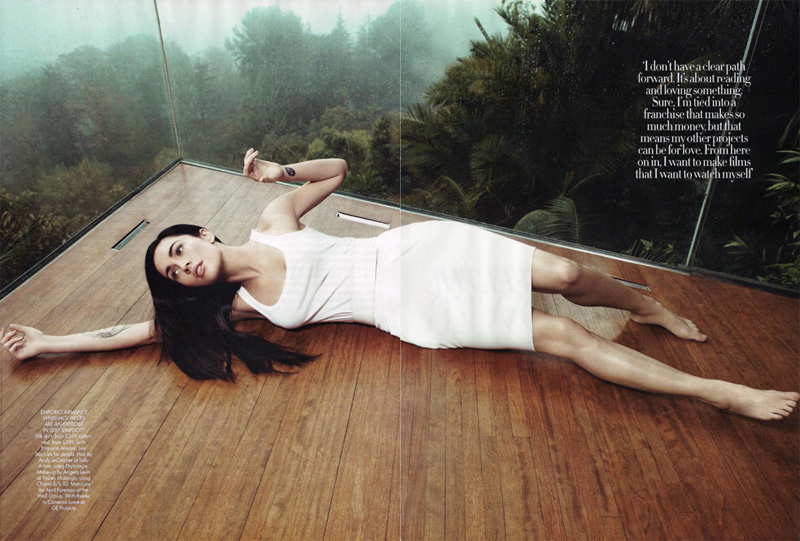 Megan Fox by Paola Kudacki | Harper's Bazaar UK April