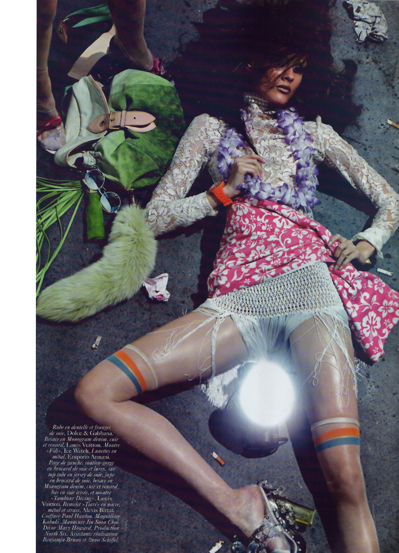 Monika Jagaciak & Lily Donaldson by Steven Klein | Vogue Paris April 2010