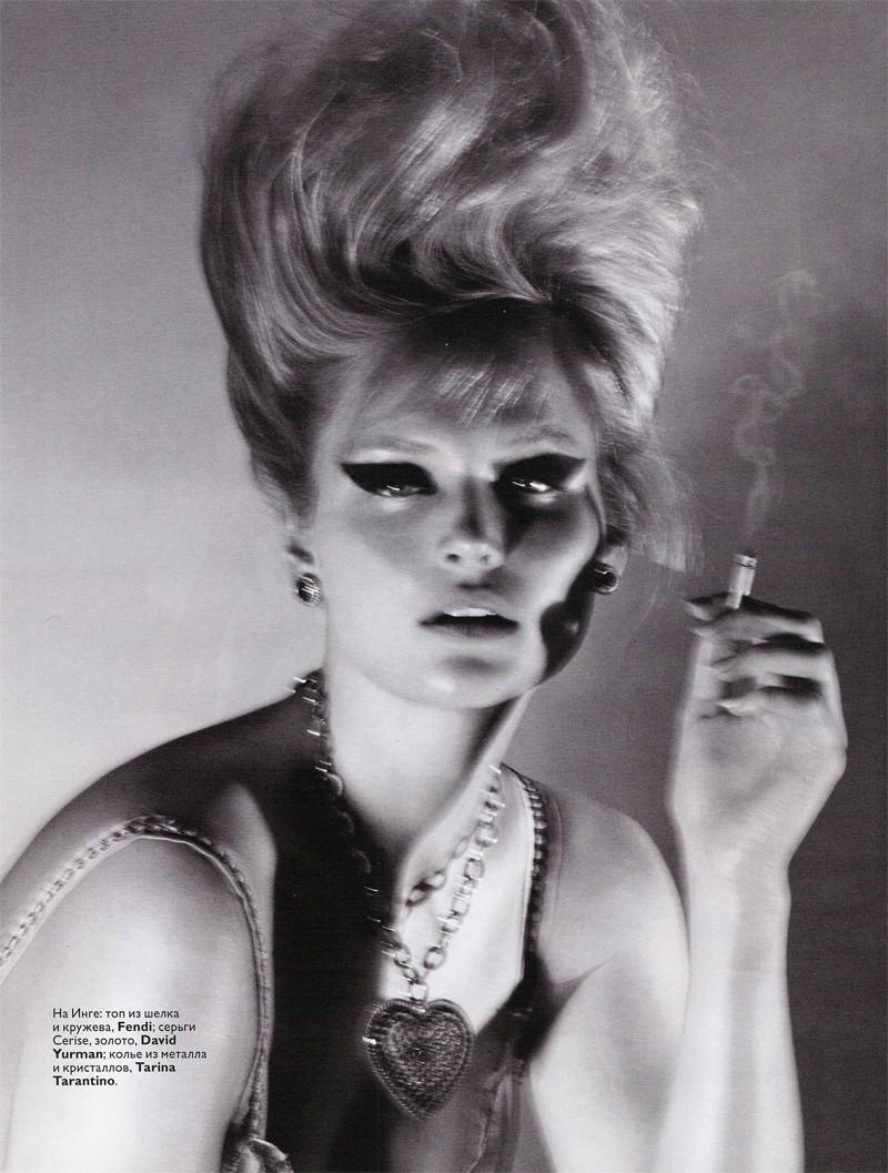 Inga Eiriksdottir by Terry Tsiolis | Vogue Russia March