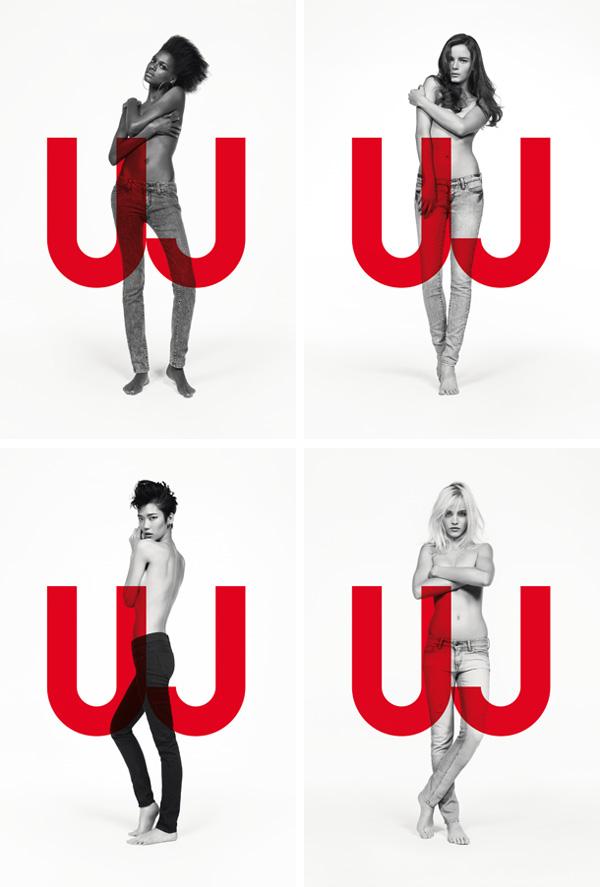Uniqlo Jeans Spring 2010 Campaign | Anna de Rijk, Ginta Lapina, Kelly Moreira & Tao Okamoto by Inez & Vinoodh