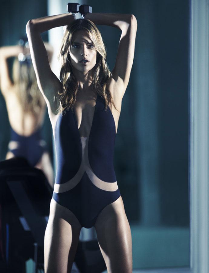 Alessandra Ambrosio by David Burton | Elle France March 2010