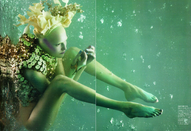 Alla Kostromicheva by Sølve Sundsbø in The Girl from Atlantis | Vogue Nippon May 2010