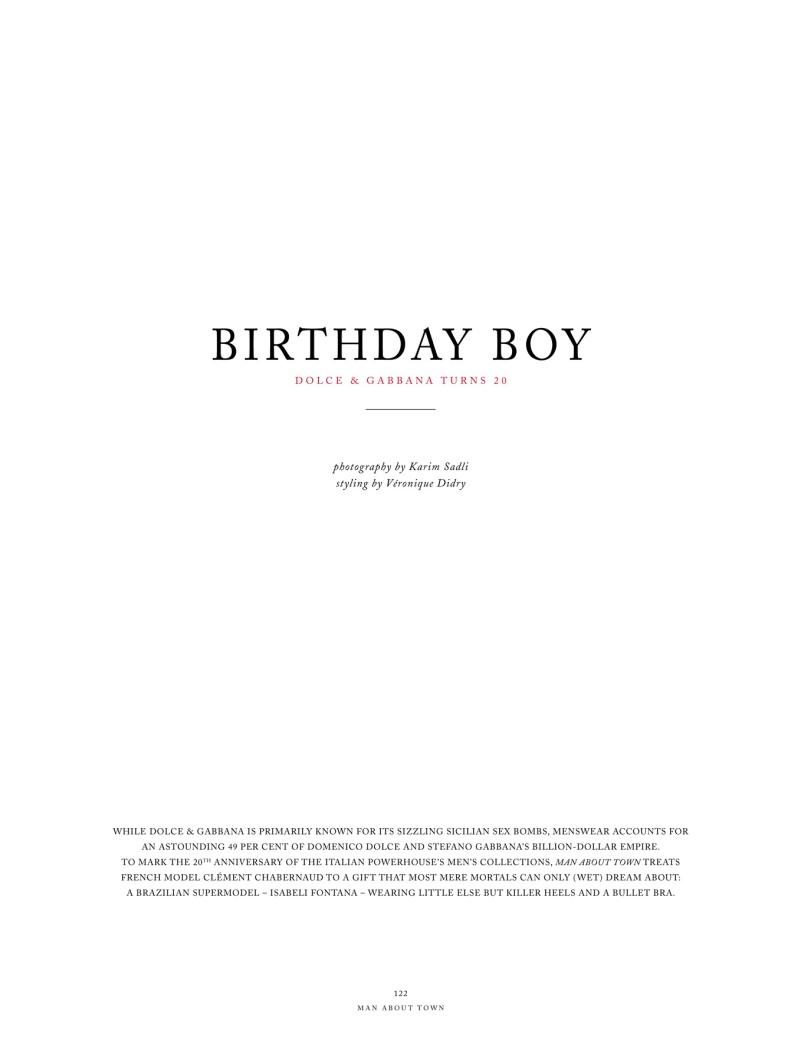 Isabeli Fontana by Karim Sadli in Birthday Boy | Man About Town Spring 2010