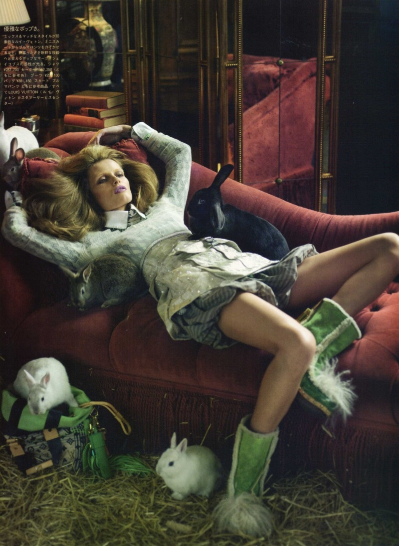 Edita Vilkeviciute by Nathaniel Goldberg for Vogue Nippon June 2010