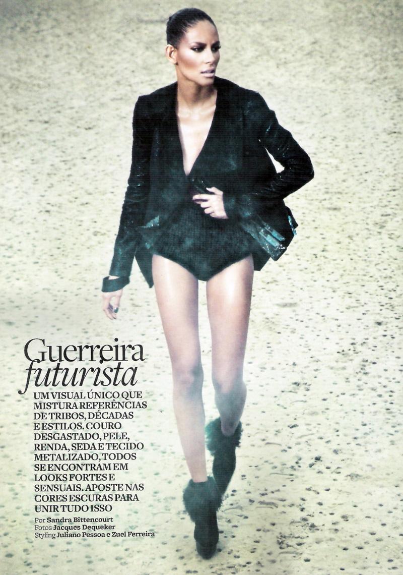 Emanuela de Paula by Jacques Dequeker in Guerreira Futurista | Marie Claire Brazil April 2010