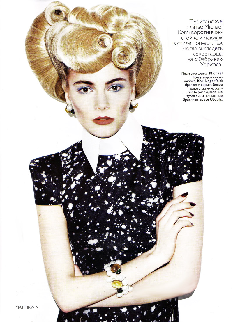 Ieva Laguna by Matt Irwin | Vogue Russia May 2010