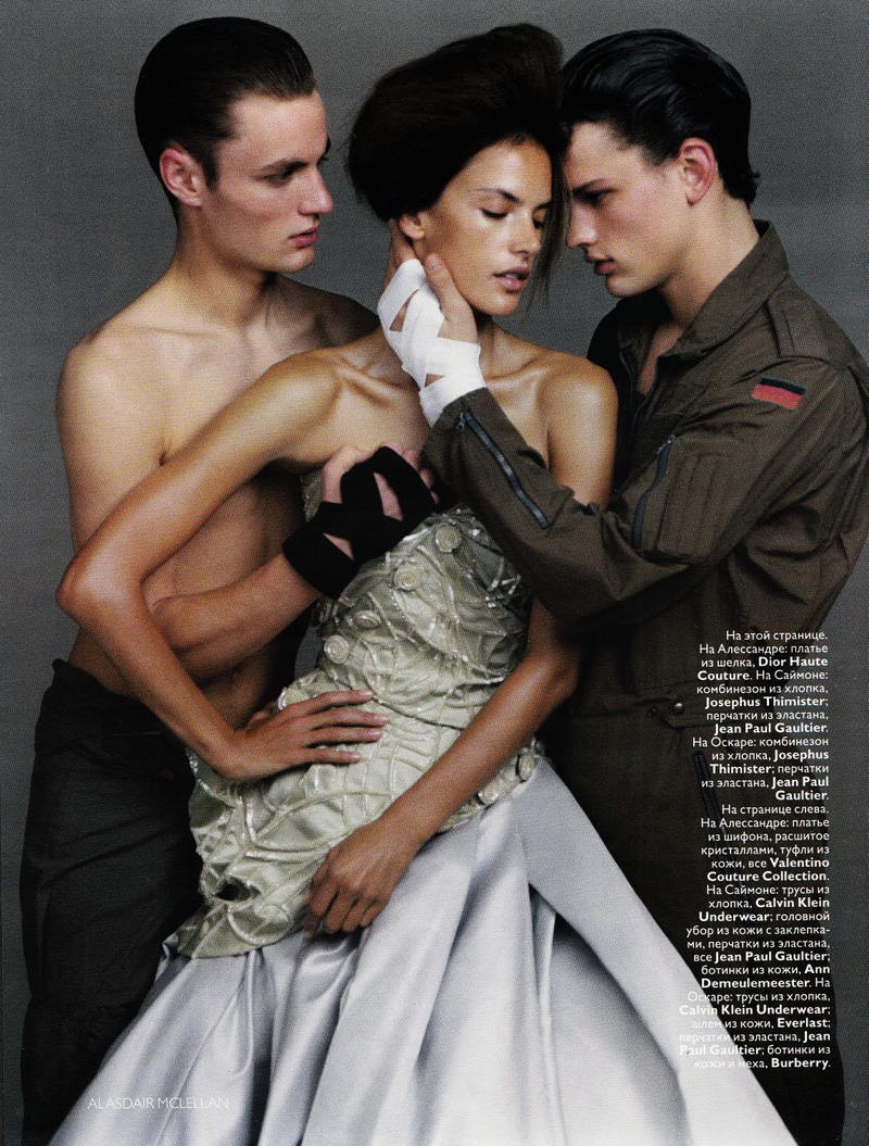 Alessandra Ambrosio by Alasdair McLellan in Love Match | Vogue Russia May 2010