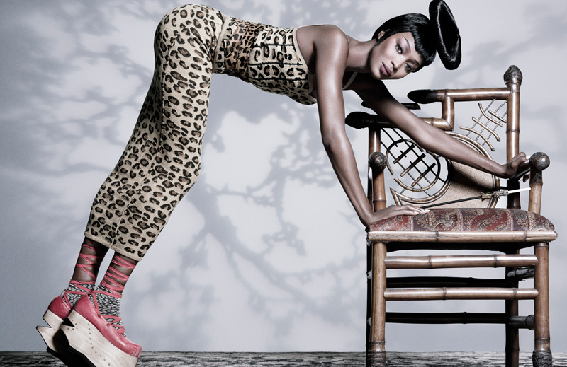 Naomi Campbell By Tom Munro Vogue Russia April 2010