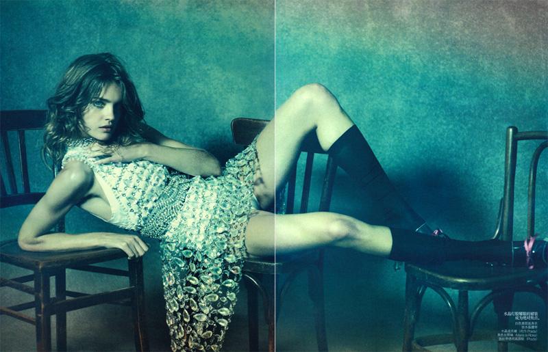 Natalia Vodianova by Peter Lindbergh | Vogue China May 2010
