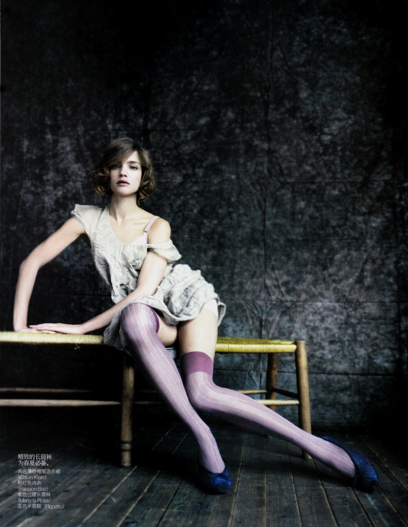 Natalia Vodianova by Paolo Roversi in The Seated Beauty | Vogue China May 2010