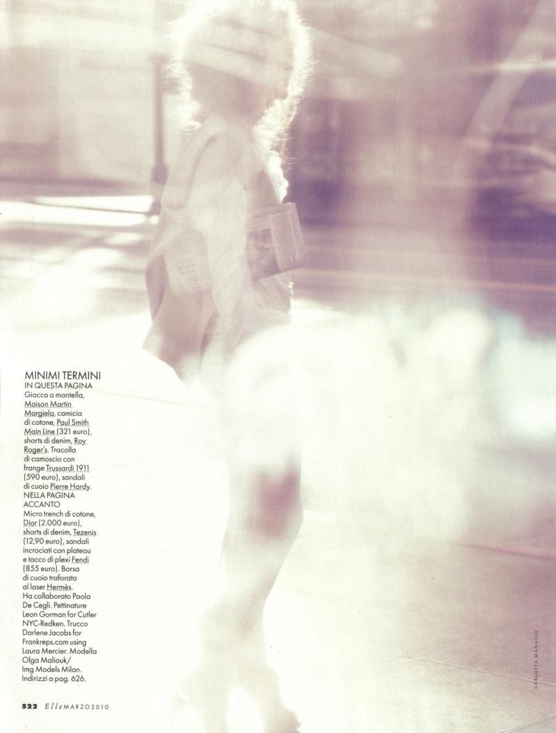 Olga Maliouk by Carlotta Manaigo | Elle Italia March 2010
