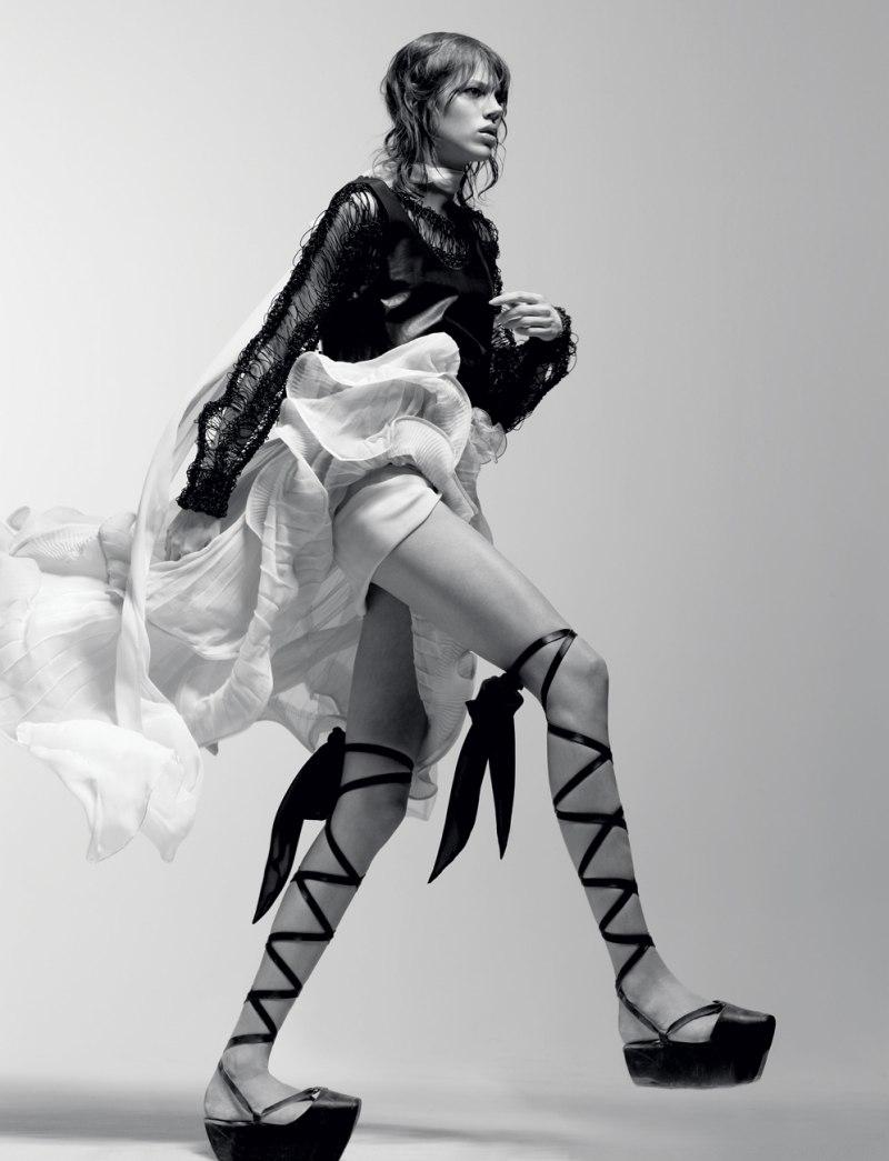 Freja Beha Erichsen by Craig McDean in Tough Ballerina | Interview April 2010