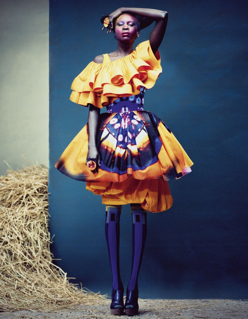 Alek Wek by Andrew Yee for How To Spend It Magazine