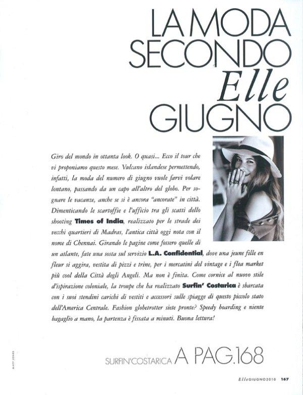 Behati Prinsloo for Elle Italia June 2010 by Matt Jones