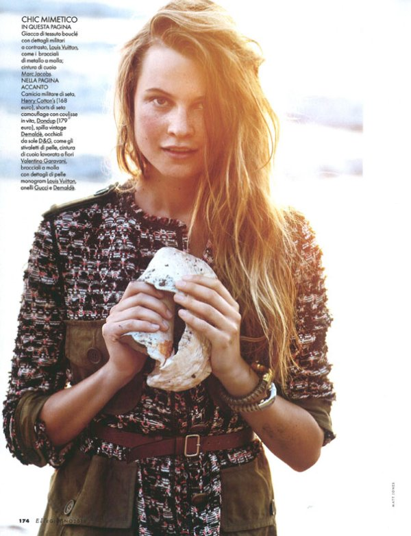Behati Prinsloo for Elle Italia June 2010 by Matt Jones