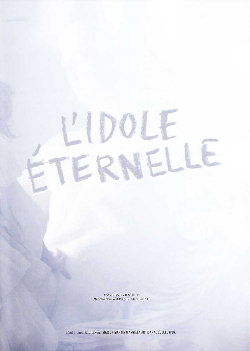 Bregje Heinen by Signe Vilstrup in L'idole Éternelle | Tush Spring 2010
